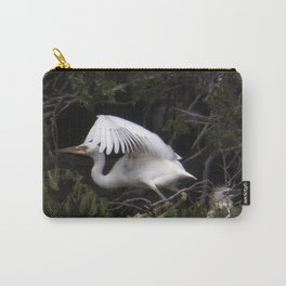 Egret Learning to Fly Carry-All Pouch