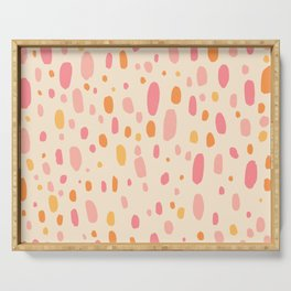 Besotted & Spotted - Warm Colors Serving Tray