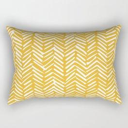 Boho Mudcloth Pattern, Summer Yellow Rectangular Pillow