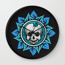 skull of the flower Wall Clock
