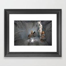 Grey Framed Art Print