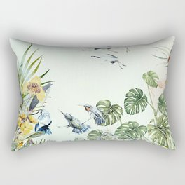 Birds in the paradise of the jungle I Rectangular Pillow