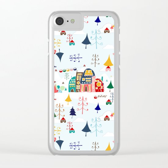Alpine Chalet Clear iPhone Case