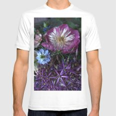 Purple Love Clusters Mens Fitted Tee White SMALL