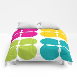 Colorful Bejeweled Circles Comforters