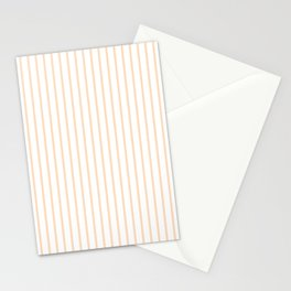 Soft Peach Pinstripe on White Stationery Cards