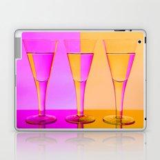 Three Coloured / Colored Wine Glasses  Laptop & iPad Skin