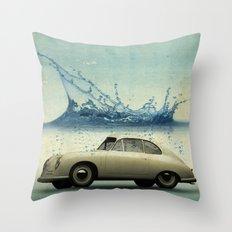 deep water porsche Throw Pillow