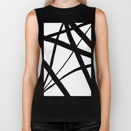 A Harmony of Lines and Shapes Biker Tank