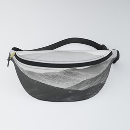 Glimpse - Black and White Mountains Landscape Nature Photography Fanny Pack