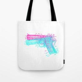 Gun Diagram Tote Bag