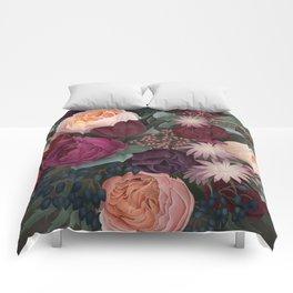 Dark florals Comforters