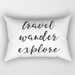 Travel Wander Explore Rectangular Pillow