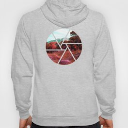 Red bright pink and orange alien landscape Hoody