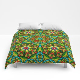 Stained Glass Mandala Comforters