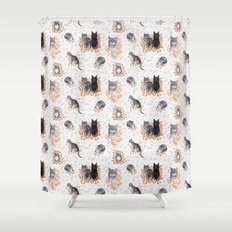 Le Chat Toile de Jouy Shower Curtain
