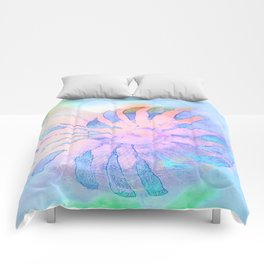 NAUTILUS CONCH SEA SHELL IMPRESSION Comforters