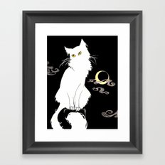 Le Chat Blanc Framed Art Print