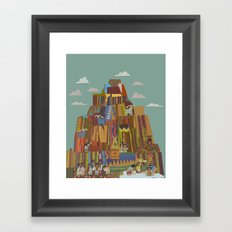 a goat with five legs Framed Art Print