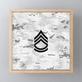 Sergeant First Class (Winter Camo) Framed Mini Art Print