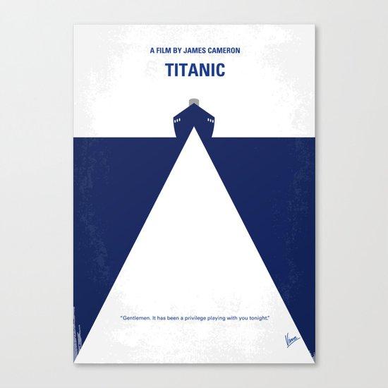 No100 My Titanic minimal movie poster Canvas Print