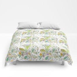 Whimsical Paisley Iris Comforters