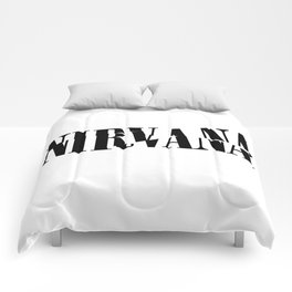 Rock band logo art /nir Comforters