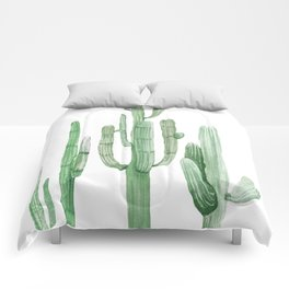Three Amigos White + Green by Nature Magick Comforters