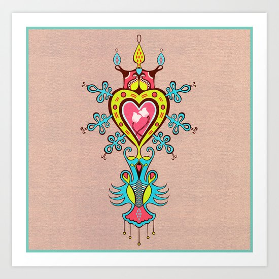The Heart Rules Art Print