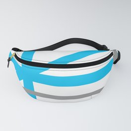 Blue & Gray lines Fanny Pack