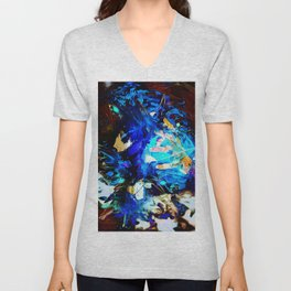 Blue fire Unisex V-Neck