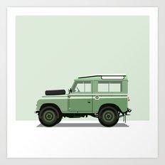 Car illustration - land rover Art Print