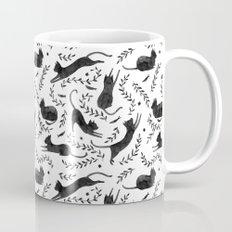 Black Cats Pattern Mug