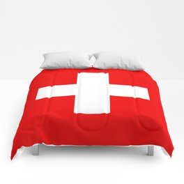 Flag of Switzerland - Authentic (High Quality Image) Comforters
