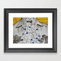 We are eaten up by nothing — Bukowski Framed Art Print