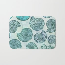 Shimmering Underwater Shell Scenery Aqua Colors Bath Mat