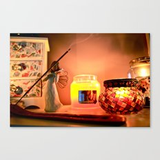 Warm still life Canvas Print