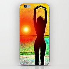 silhouette sunset beauty iPhone & iPod Skin