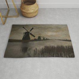 Windmills at Kinderdijk Holland Rug