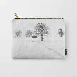 Snow Farm (Black and White) Carry-All Pouch
