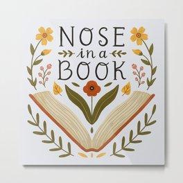 Nose in a Book Metal Print