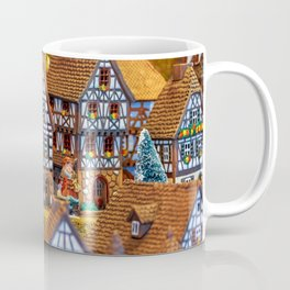 Christmas Motif Building Coffee Mug