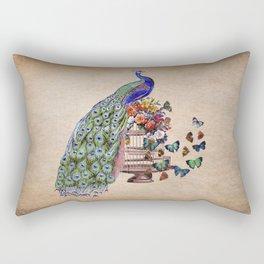 Vintage Peacock Beauty Rectangular Pillow