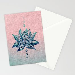 Intricate Lotus Stationery Cards