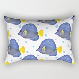 Purple Tang Pattern Rectangular Pillow