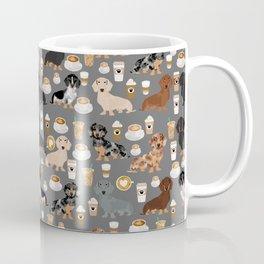 Dachshund coffee lover must have pet gifts dachsie doxie dog weener dog Coffee Mug