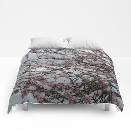 Almond tree blossom Comforters