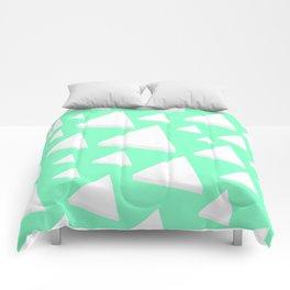 White Triangles Comforters