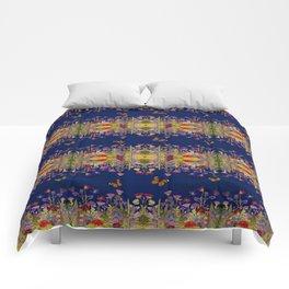 Neon Maximalist Garden Comforters