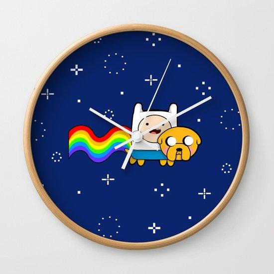 Nyan Time: Adventure Time plus Nyan Cat Wall Clock